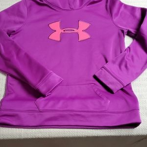 Under Armour Sz YXL Purple & Pink Hoodie